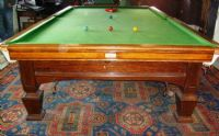E -J Riley Solid Oak Full Size Snooker Table (SOLD)